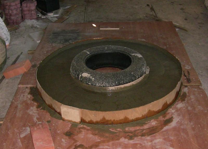 Фундамент из автомобильных дисков своими руками 64