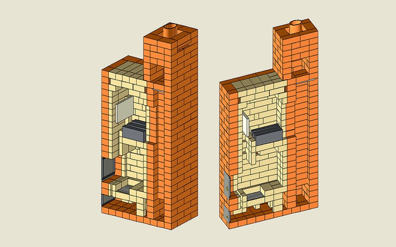 Подача воздуха является раздельной, а регулирование достаточное и только с помощью поддувальной дверцы – при открытом канале ВВ.