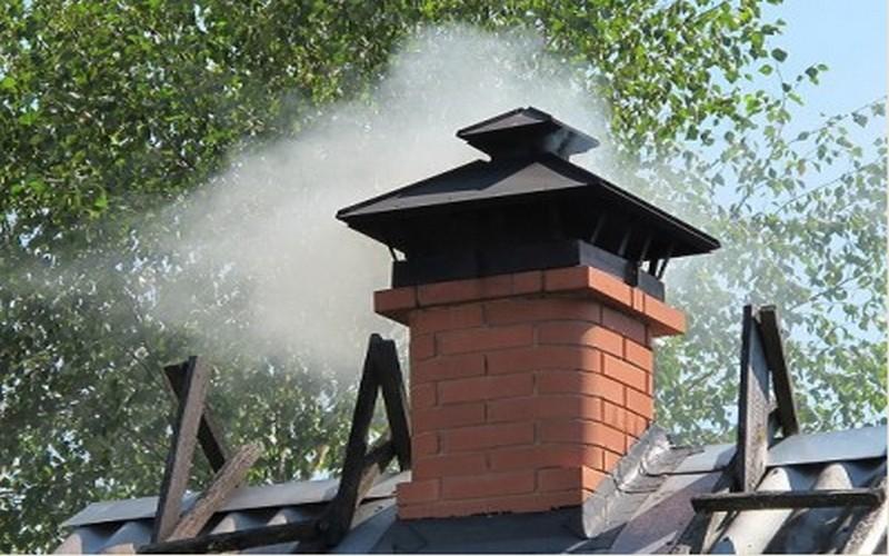 Пламя догорает непосредственно в каменке, перемешиваясь частично с газами с пода каменки. Длина пламени обычно доходит до хайла