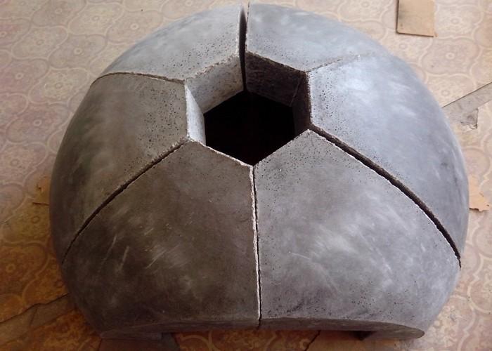Печь бетона сложный цементный раствор
