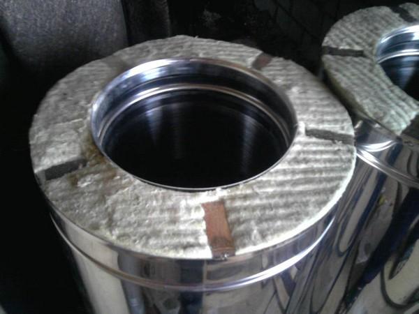 Изоляция 50 мм, наружная - нержавейка толщиной 0,5 мм сталь 304